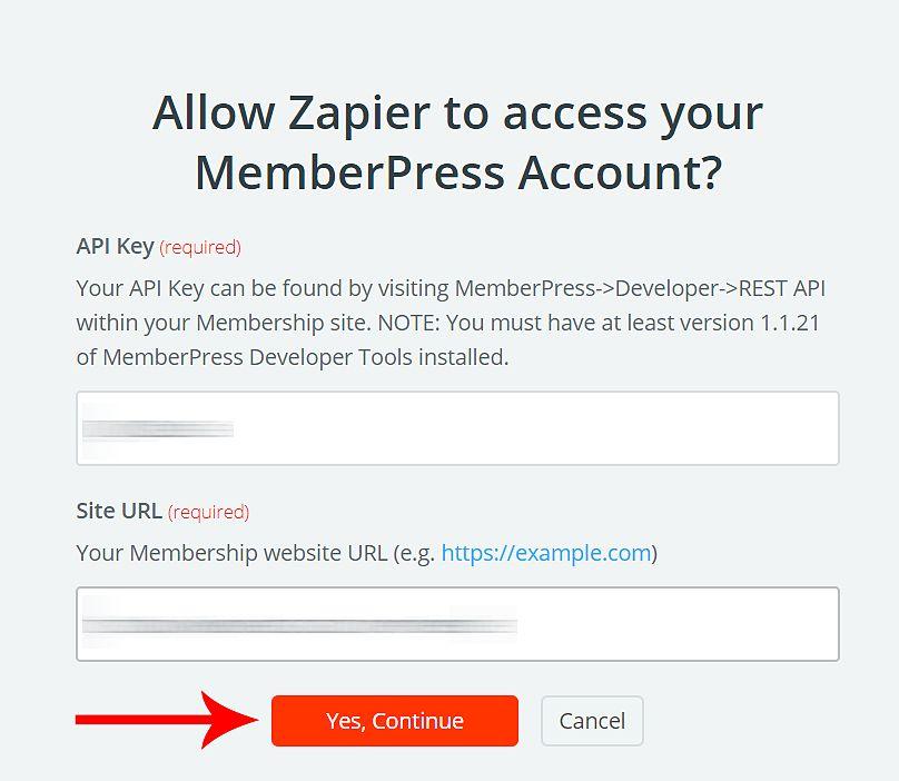 Create Zapier integrations in MemberPress