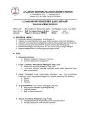 SOAL UJIAN AKHIR (UAS)- Banking Service.doc