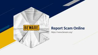 Report Scam Online.ppt