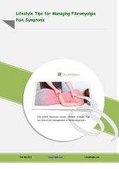 Lifestyle Tips for Managing Fibromyalgia Pain Symptoms.PDF
