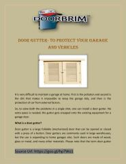 Door Gutter- To Protect Your Garage And Vehicles.pdf