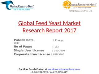 Global Feed Yeast Market Research Report 2017.pptx