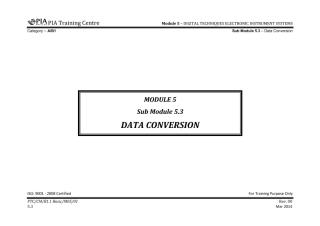 B1.1 Module 5 (Digital Techniques & Electronic Instrument System) Sub Module 5.3 (Data Conversion) Rev 00.pdf