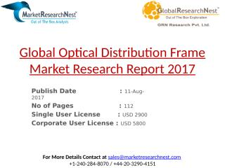 Global Optical Distribution Frame Market Research Report 2017.pptx
