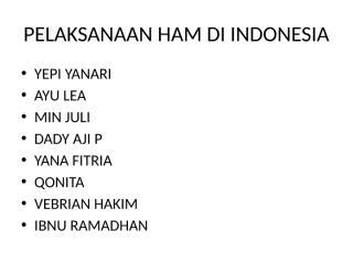 pelaksanaan ham di indonesia.pptx