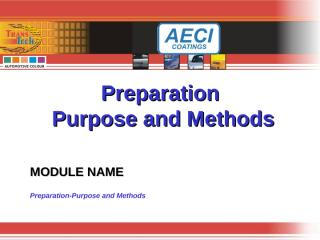 Preparation-Purpose and Methods.ppt