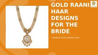 latest gold raani haar designs.pptx