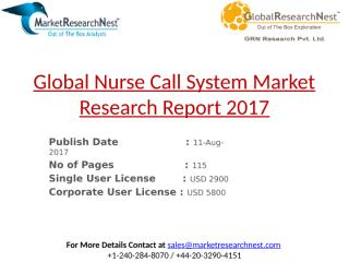Global Nurse Call System Market Research Report 2017.pptx