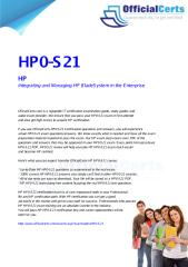 HP0-S21 Integrating and Managing HP BladeSystem in the Enterprise.pdf