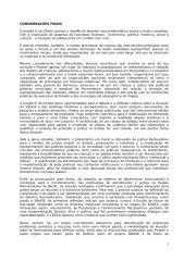 CONSIDERAÇÕES e Recomendações Projeto É de Direito.doc