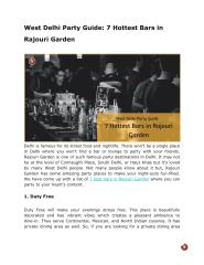 West Delhi Party Guide_ 7 Hottest Bars in Rajouri Garden.pdf