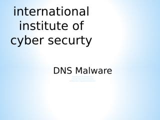 DNS malware iicybersecurity.ppt