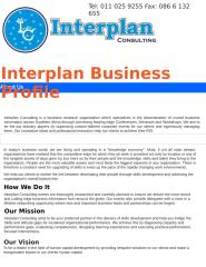 Interplan Consulting Profile.docx