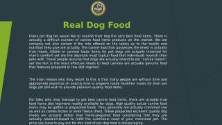 Real Dog Food.pptx