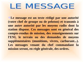 LE MESSAGE.ppt