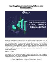 How Cryptocurrency Coins, Tokens and Altcoins Differ.pdf