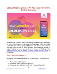 Dating Website Script Is All You Need For Online Dating Business.pdf