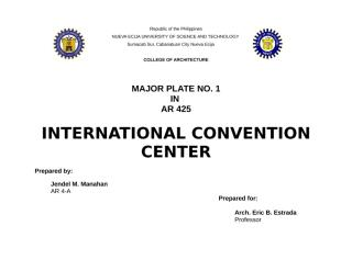 front page CONVENTION CENTER.docx