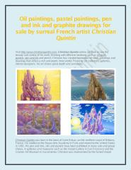 Oil Paintings and Pastel Paintings for Sale - www.christianquintin.pdf
