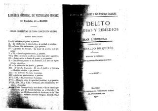 7 - Lombroso, C. El Delito. Causas y Remedios. Madrid, Librería General de V. Suárez, 1902..pdf