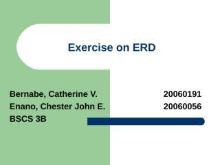 Exercise on ERD.ppt