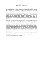 trabalho pedagogia tradicional.docx