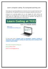 learn computer coding -tccicomputercoaching.com.doc