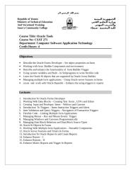Oracle Tools.doc